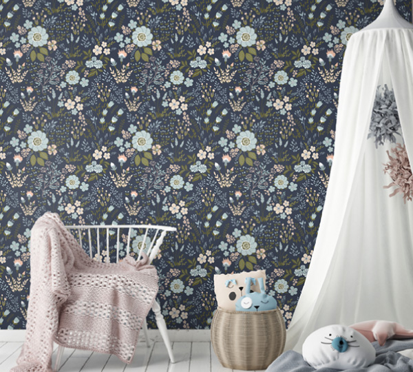 Secret Garden Pattern Wallpaper Mural