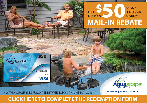 GET YOUR FREE Aquascape Visa Prepaid Card