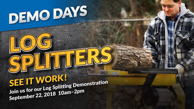 Demo Days - Log Splitters - See it Work!