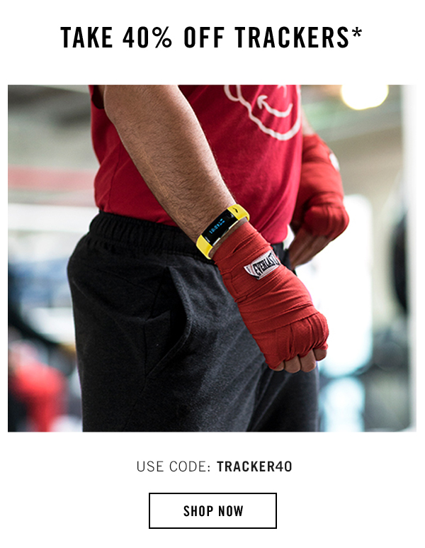 Take 40% off activity trackers, code TRACKER40