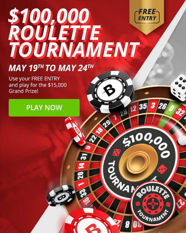 Free Entry into our $100,000 Roulette Tournament