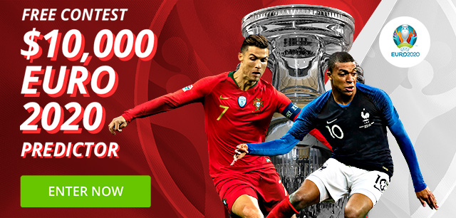 Claim your free $10,000 Euro 2020 Predictor entry
