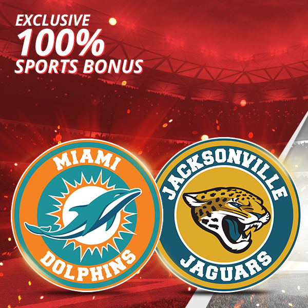 Miami at Jacksonville – 100% up to $1,000 Sports Deposit Bonus