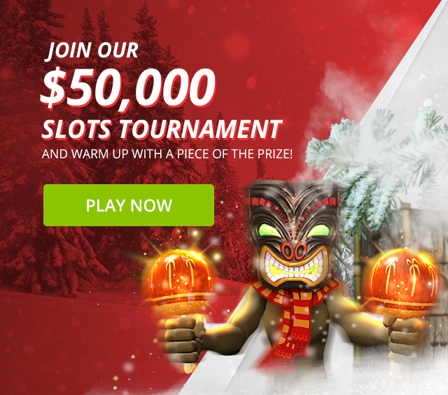 Join in our $50,000 Slots Tournament