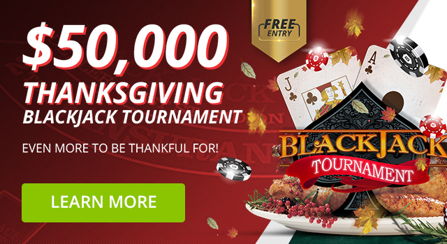 $50,000 Blackjack Tournament + $10,000 Parlay Contest + $10,000 Score Predictor Contest