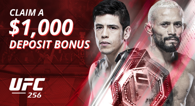 Get a $1,000 bonus to bet UFC 256