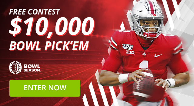 $10,000 Bowl Pick'em Contest + Free Entry in our $202,100 Slots Tournament