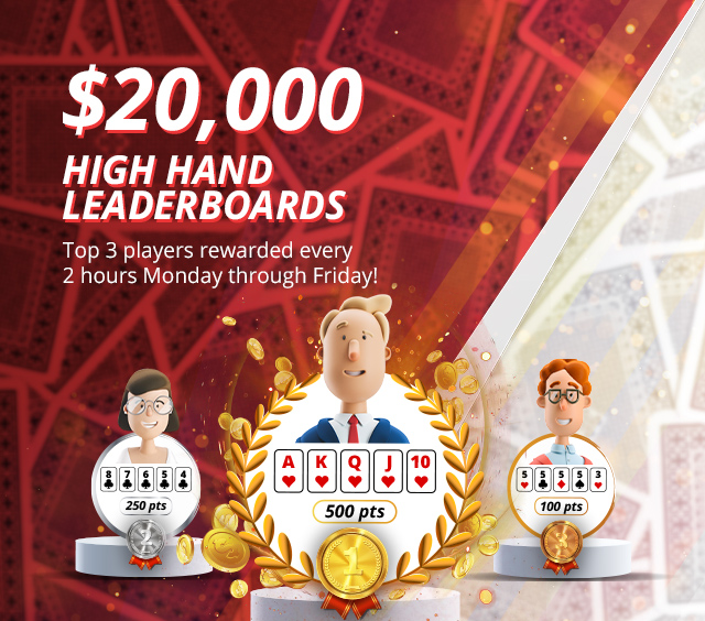 Join our $20,000 High Hand Poker Leaderboard