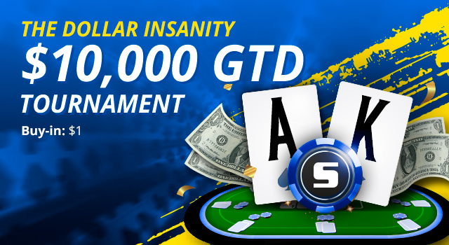 Turn $1 into thousands in this special poker tournament