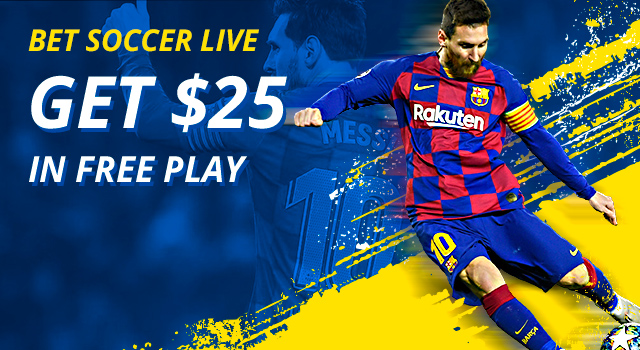 Bet Champions League for $25 in free play