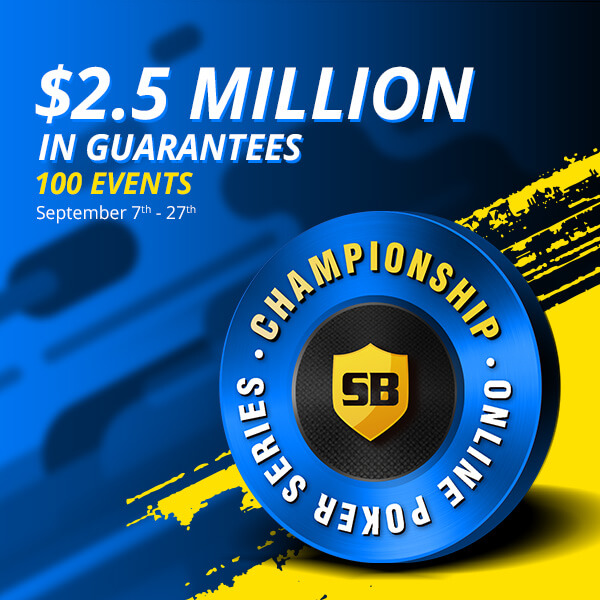 Enter our $2.5 Million Poker Series today