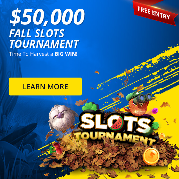 Play in our free $50,000 Slots Tournament
