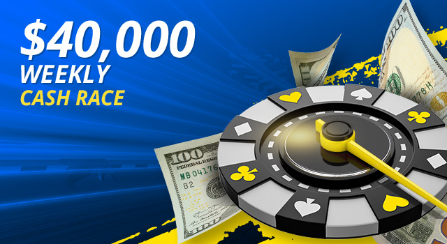Earn a piece of our $40,000 Cash Game Leaderboards