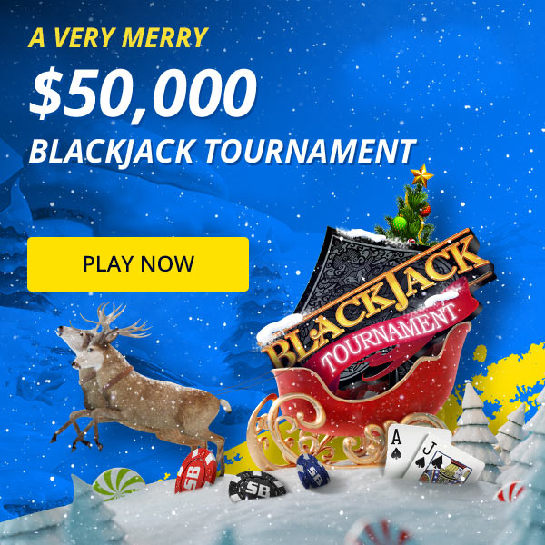 Free Entry: $50,000 Holiday Blackjack Tournament