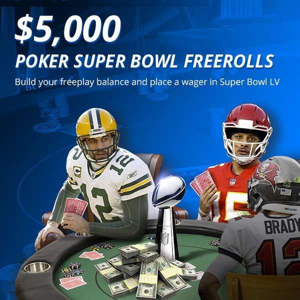 $5,000 Super Bowl Freerolls