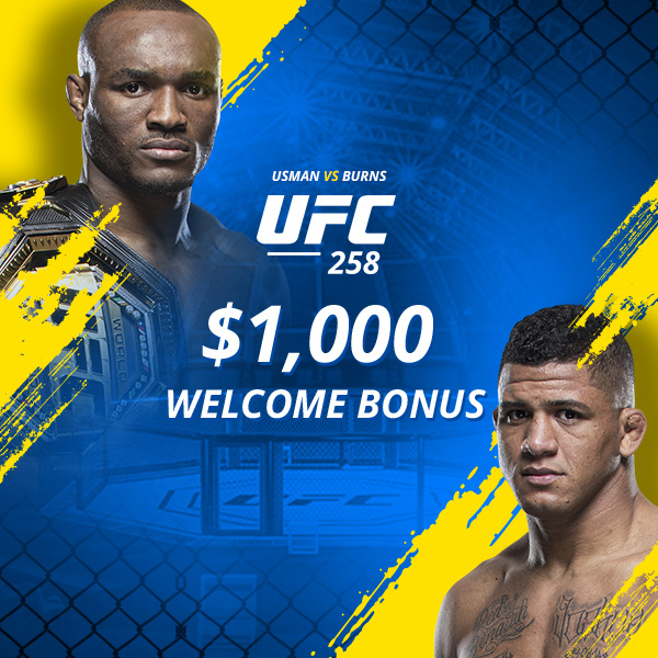 Get a $1,000 bonus to bet UFC 258 tonight