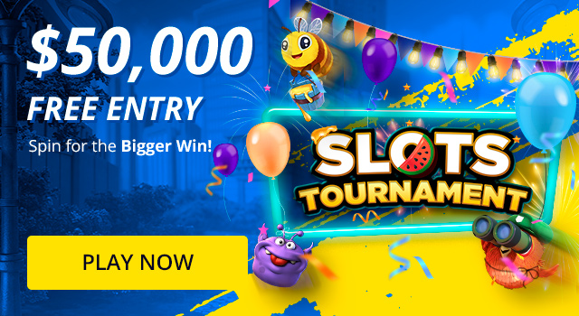 Enter our free $50,000 Slots Tournament today