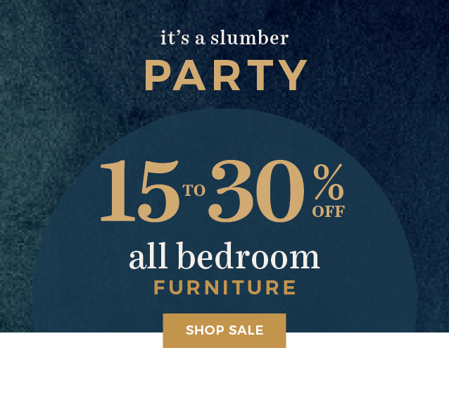 15% to 30% off all bedroom furniture