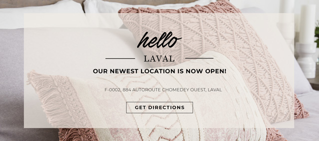 Sofa Event 5 - Hello Leval our newest location is now open!