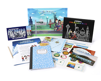 Discover the USA with monthly activities, games, and more!
