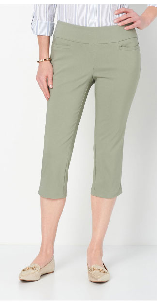Pull-On Signature Slimming Luxe Stretch Crop