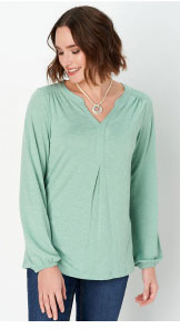 Solid Knit Texture Blouse
