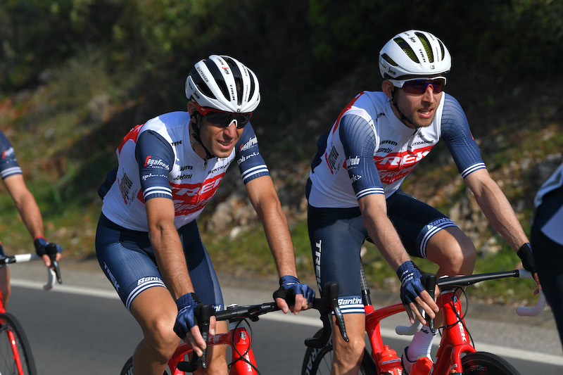Vincenzo Nibali and Bauke Mollema during the Stage 1 of the 2020 Volta ao Algarve.