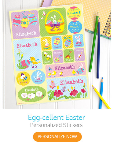 Egg-cellent Easter Personalized Stickers