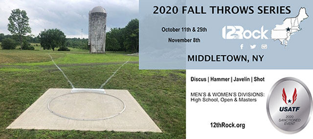 2020 Fall Throws Series - Sep. 27, Oct. 11 & 25, Nov. 8 - Middletown, NY