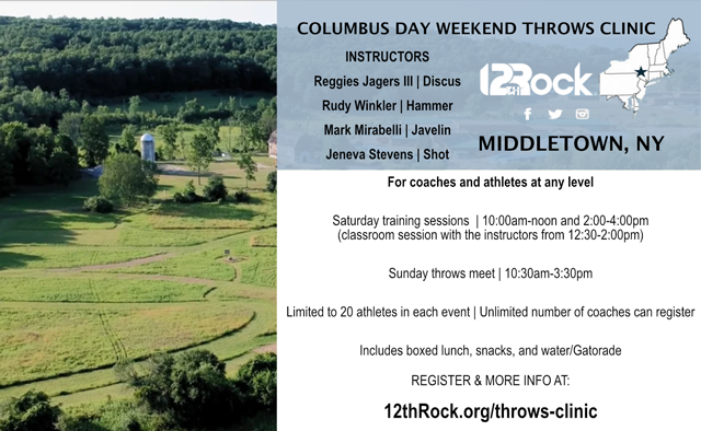 Columbus Day Weekend Throws Clinic - Middletown, NY