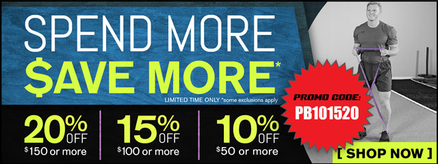 Spend more, save more! Save up to 20%.